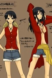 I definately want to cosplay a female version of Luffy from One Piece~ Obviously I'm going to do the shorter hair version~ Really easy to do~