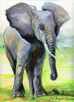 Smiling Elephant by Johannes Margreiter