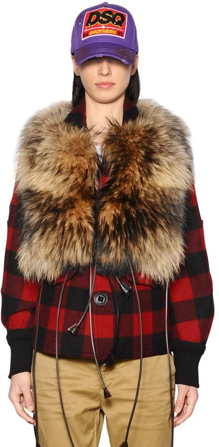 DSQUARED2 Vest Made Of Fur And Leather