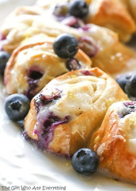 Blueberry Lemon Crescent Ring and Pillsbury Crescent Rolls Recipes - Crescent Roll Ideas for Entrees, Snacks, Appetizers, Desserts and More on Frugal Coupon Living.