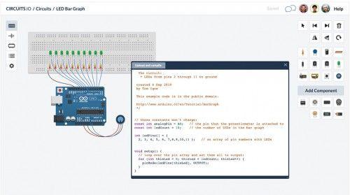 Simulátor Arduino ONLINE