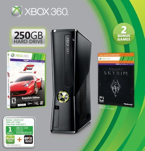 Xbox 360 250GB Console. Xbox 360 Wireless Controller Included. Bonus One-Month Xbox Live Gold Membership. Bonus Forza 4 Essentials Edition. Bonus Elder Scrolls V: Skyrim Downloadable Tokenhttp://www.bestfurnituredeals4u.com/product/xbox-360-250gb-holidb0096kemuy/ #Xbox #Xboxconsole