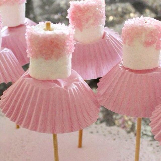 Traktatie ballerina ballet roze meisje kleuter school