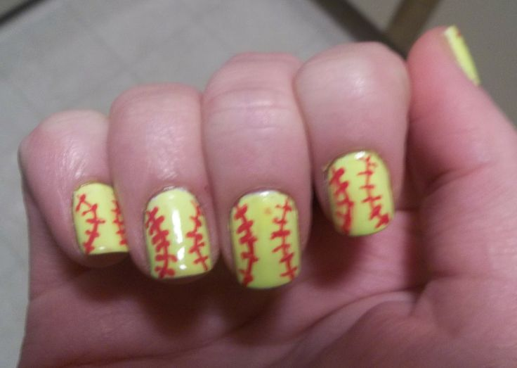 ~softball nail designs~ I never thought of this I could do white for when  we go to all those baseball games! - Best 25+ Softball Nails Ideas On Pinterest Baseball Nail Designs