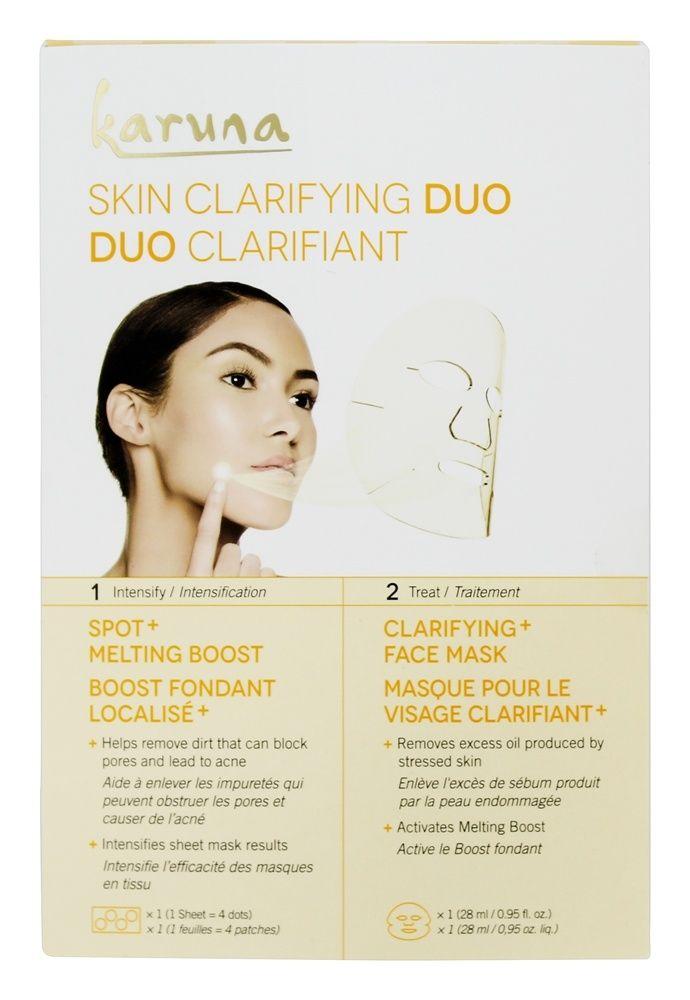 Karuna – Skin Clarifying Duo Acne + Pore Boost & Face Sheet Mask – 2 Count