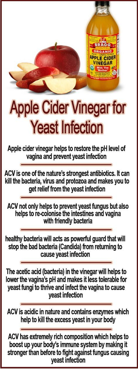 How to Cure Yeast Infection using Apple Cider Vinegar