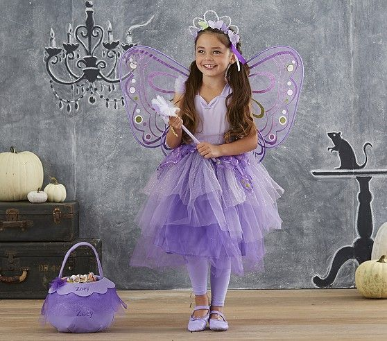 Kid Butterfly Fairy Tutu Costume | Pottery Barn Kids. She wants to be a purple fairy this year. This is perfect