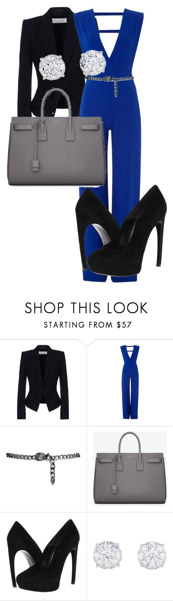 """Career woman"" by kendral266 ❤ liked on Polyvore featuring Viktor & Rolf, MANGO, Yves Saint Laurent and Alexander McQueen"