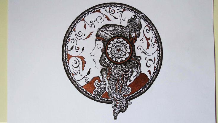 Zentangle Zeichnung #5 * Zeitraffer