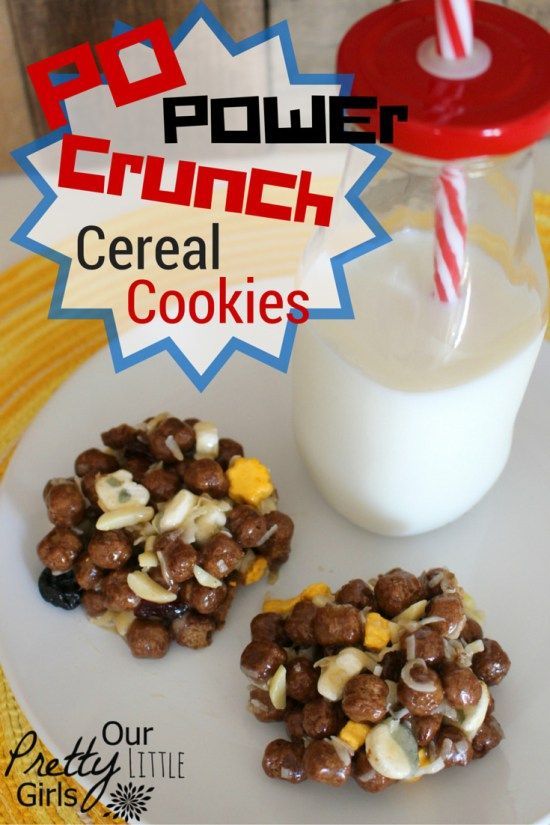 A delicious and easy cereal cookie featuring Kung Fu Panda Po Power Crunch Cereal #Ad #CerealAnytime