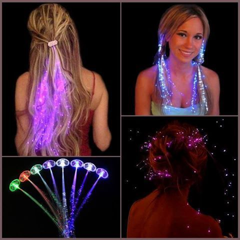 76 best fiber optic lighting images on pinterest home decor brighten up your outfit ready for the party with these awesome fiber optic light up hair clips theyre easy to use and can be cut to the length of your pmusecretfo Choice Image