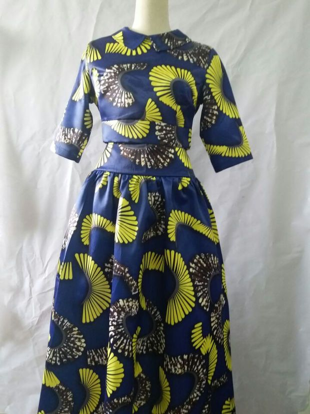 Basin Blue Yellow African Traditional Dress