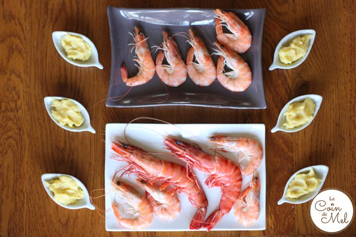 King Prawns and Homemade Mayonnaise - a Really Easy Starter - Ready in less than 10 Minutes
