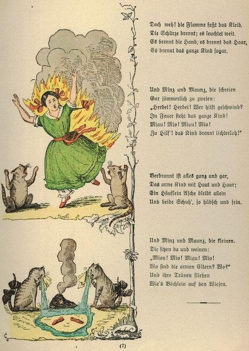 Heinrich Hoffmann. Der Struwwelpeter (Die gar traurige Geschichte mit dem Feuerzeug), 1845
