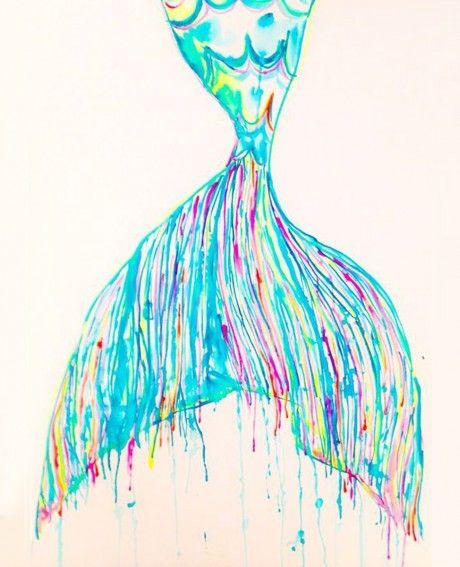 MERMAIDS TAIL | BEACH ART | LIBBY WATKINS