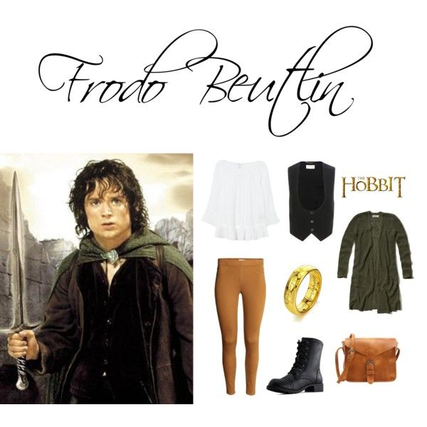 Casual Cosplay - Frodo Beutlin by moarena on Polyvore featuring Hollister Co., Velvet, Yves Saint Laurent and Baggins