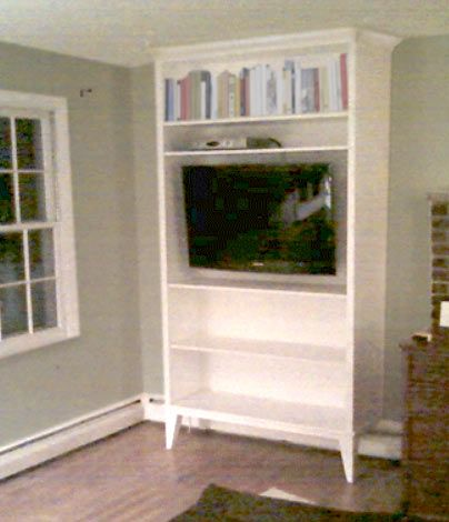 Built In Shelving Unit Over Baseboard Heating Elevate