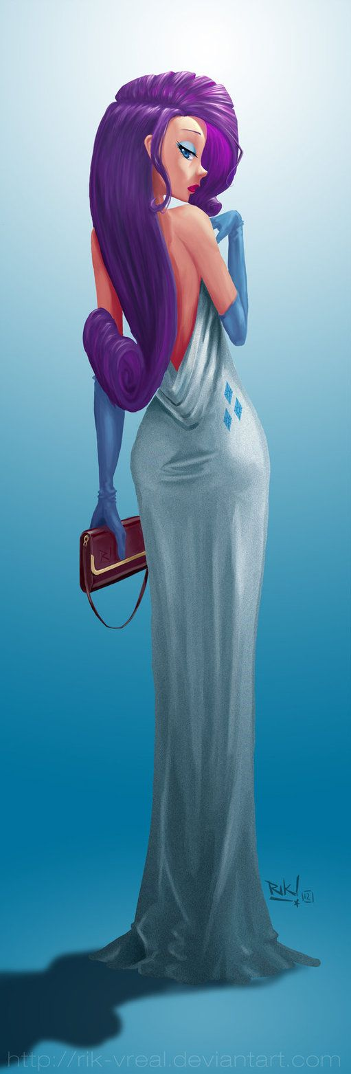 this is some gorgeous fan art of human Rarity, from MLP.