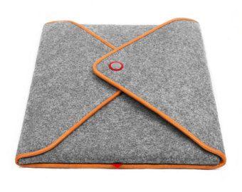 15''Macbook Sleeve Wool Felt Laptop Case Tablet Sleeve by TopHome