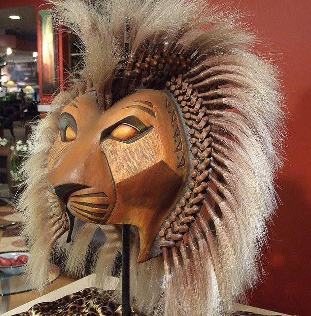 Mascara de Simba de El Rey Leon