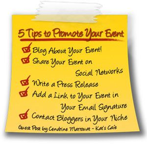 How to Promote your Cause, Giveaway or Event? A Guest Post by the awesome @Cendrine Marrouat for Kat's Cafe ... wade through the fun of self-promotion with this great post!