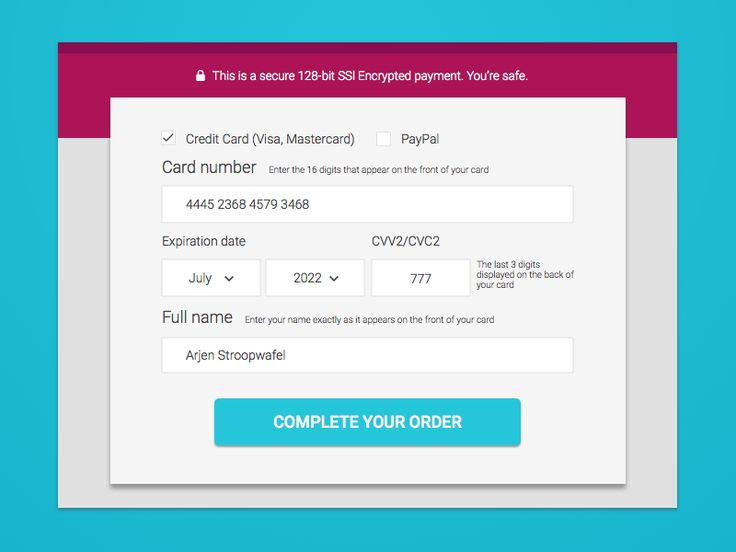 Best Payment Form Images On   User Interface Mobile