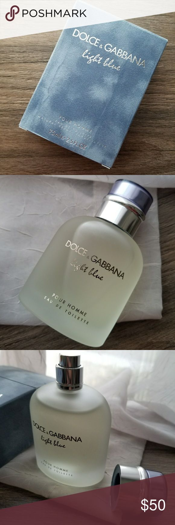 Dolce & Gabbana Light Blue EDT for men New in box, Dolce & Gabbana Light Blue Eau De Toilette Pour Homme. 75ml/ 2.5 fl oz glass bottle, never used. If you have any questions, let me know! Dolce & Gabbana Other