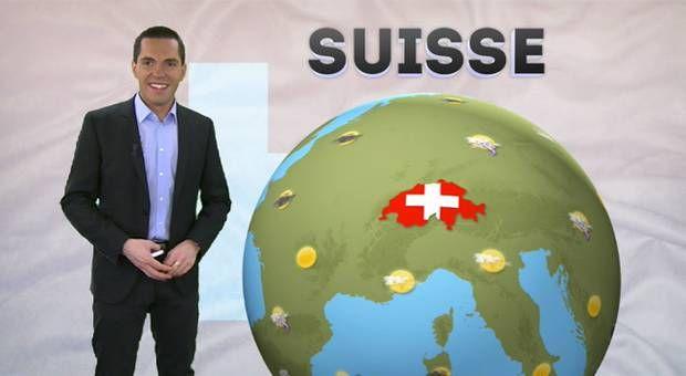 Bulletin de prévisions nationales, type de temps et températures pour la Suisse réactualisé à 13h00.