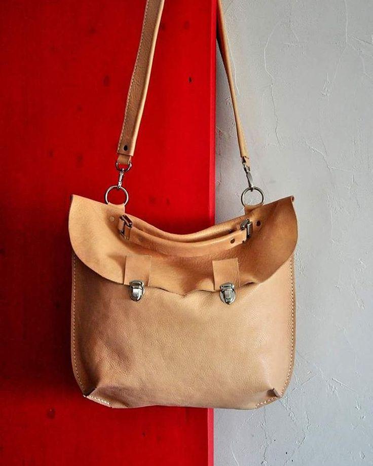 Soft leather milk briefcase by @burtsevbags