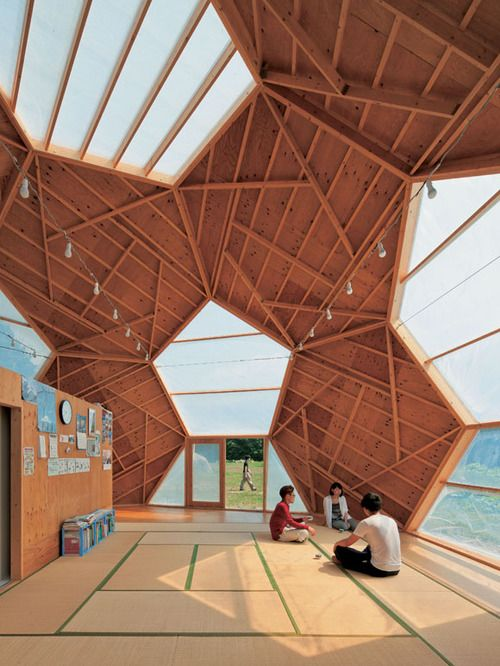 industrialist:    Kokoro Shelter FireFighter's House by Tokyo-based architect Masaharu Takasaki: Labs, Architecture Students, Architects, Geode Domes, Soccer Ball, Geometric Design, Beaches Houses, Hexagons, Kokoro Shelters