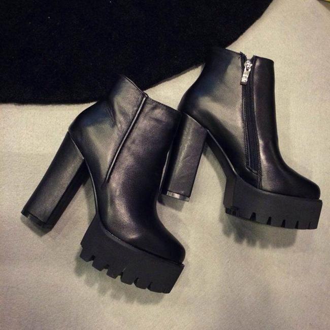 2015 зимняя мода сапоги толстый каблук сапоги туфли на платформе туфли на высоком каблуке мартин сапоги руна выстроились сапоги женская обувь