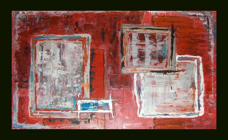 "² 2008 36"" x 24"" Acrylique et latex sur toile Acrylic and latex on canvas"