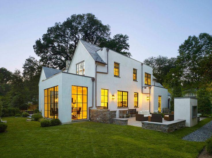 I love the big windows!! Bethesda House by Anne Decker Architects