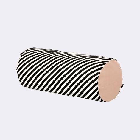 Ferm living black stripe cylinder cushion