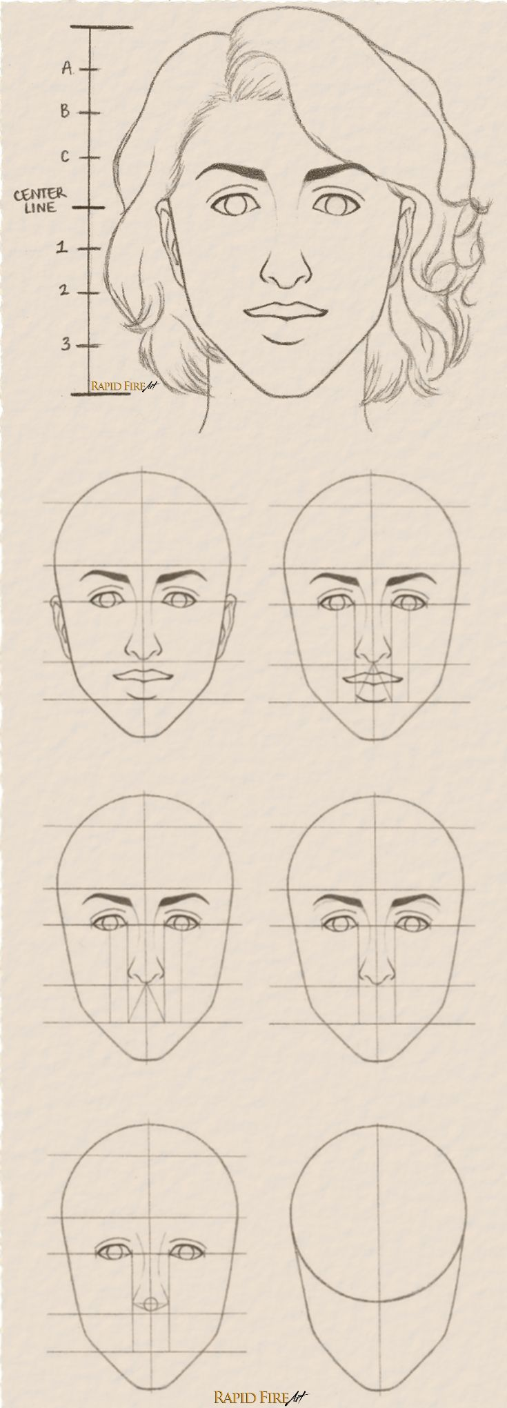 Tutorial: How To Draw Female Face Step By Step See Full Tutorial Here: Http