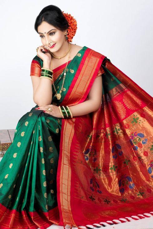Green Paithani