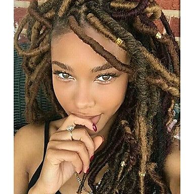 Braiding Hair Curly Dreadlocks / Faux Locs Synthetic Hair 1pack, 24 roots / pack Hair Braids 14 inch Medium Length Soft / New Arrival / 100% kanekalon hair