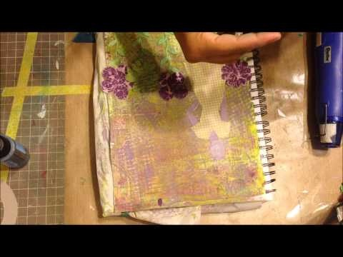 I just love working with the Tim Holz tissue paper....    Art Journal Page Tutorial - Lime and Purple