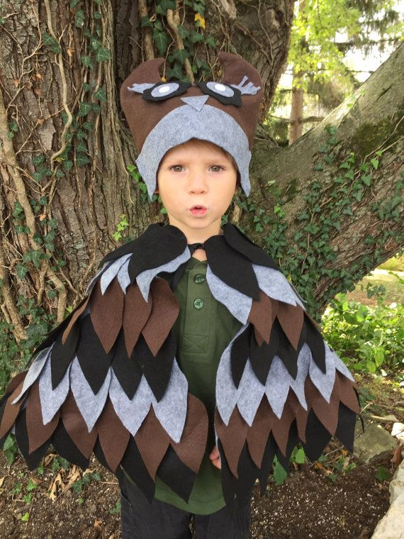 Kids Owl Wings and Hat Size Small Ready to Ship by rubywebbs
