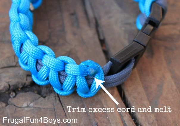 How to Make Parachute Cord (Paracord) Bracelets « Frugal Fun For Boys