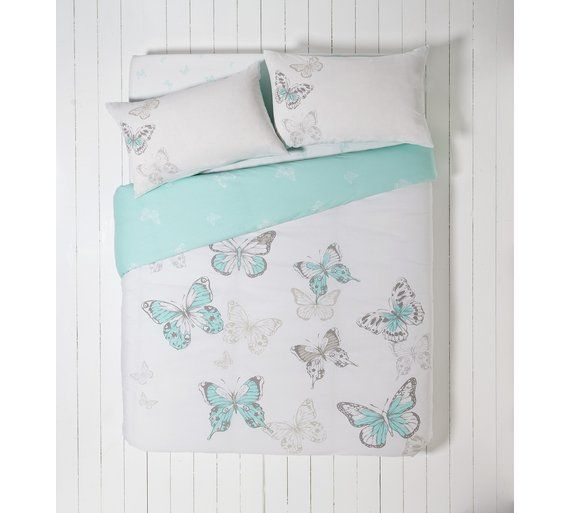 Buy HOME Butterfly Blue Bedding Set Bundle - Single at Argos.co.uk, visit Argos.co.uk to shop online for Duvet cover sets, Bedding, Home and garden