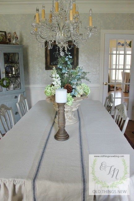Best 25 Drop Cloth Tablecloth Ideas On Pinterest  Ruffled Prepossessing Tablecloth For Dining Room Table Decorating Design
