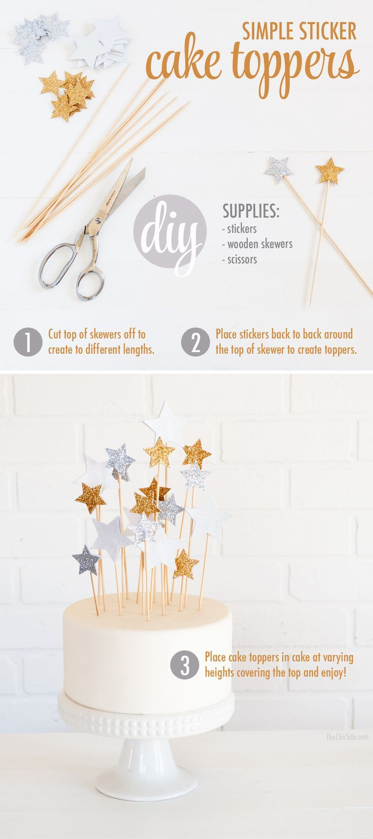 simple cake topper for a kid's birthday cake - DIY tutorial