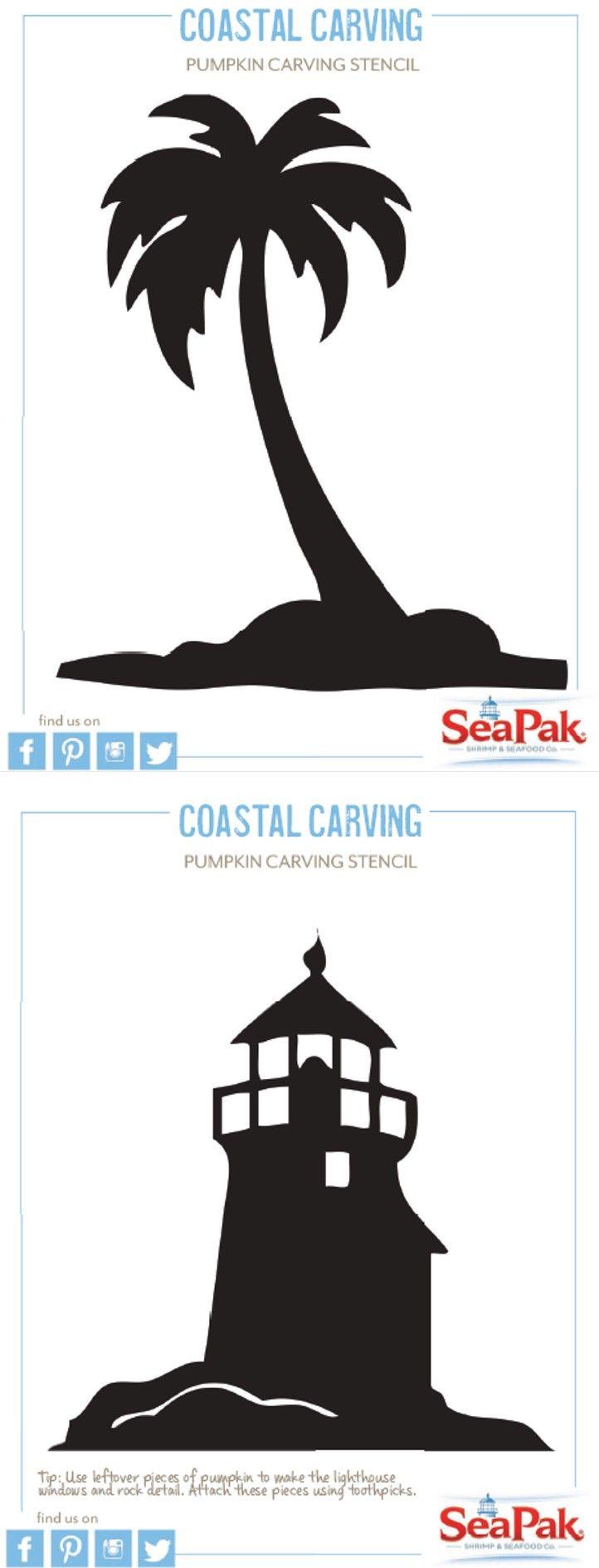 #printable stencils for the perfect, coastal jack-o-lantern #halloween #kids