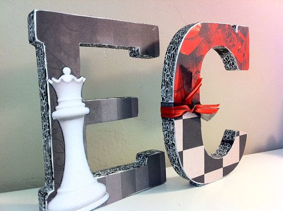 Twilight inspired lettering sold on etsyLetters Decor, Games Room, Dawn Parties, Kids Size, Inspiration Ornaments, Breaking Dawn, Letters Ideas, Bday Parties, Inspiration Letters