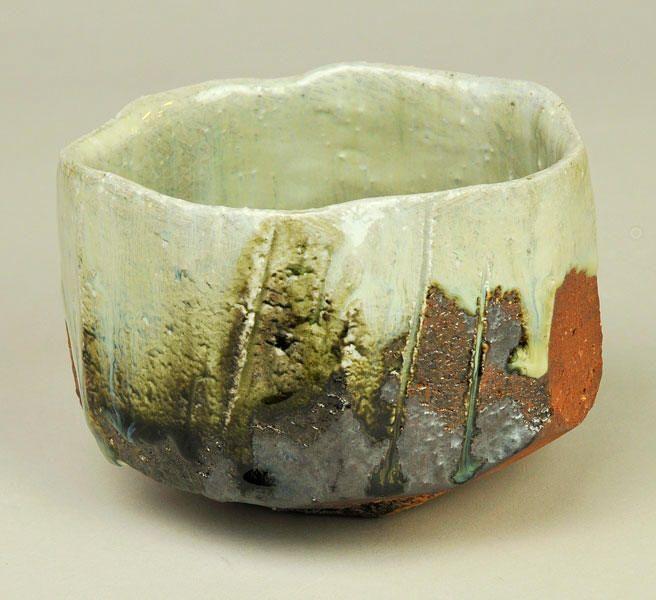 Taibi Nishihata (1948 - ) - chawan, Haiyu glaze