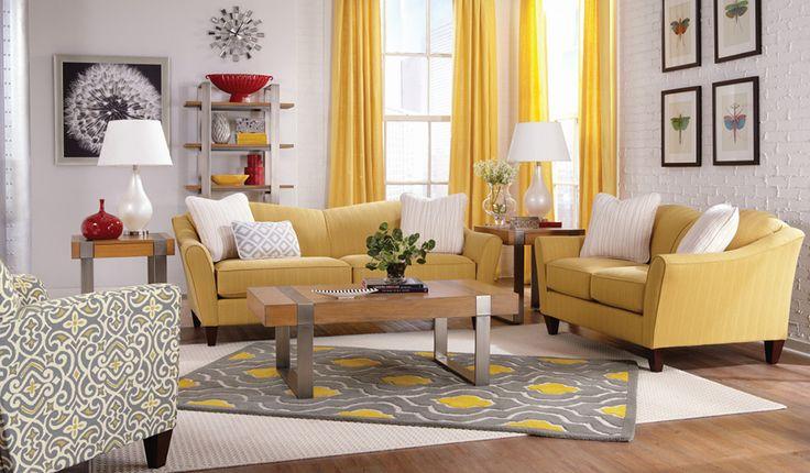 La Z Boy U2014 Room Inspirations U2014 Demi Room (I Like The Palette. Yellow Living  ...