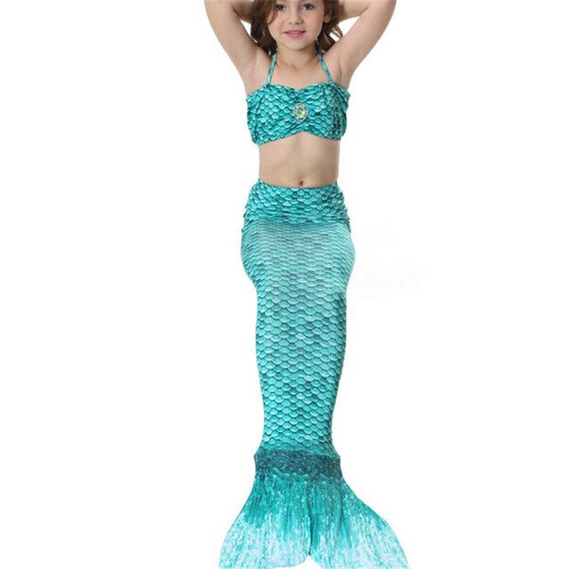 Mermaid Tails for Swimming, Mermaid Costume, Mermaid tails for kids, Green Mermaid Tail