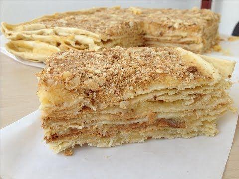 """Торт """"Наполеон"""" с Заварным Кремом (Вкусный, Домашний Рецепт) Napoleon Cake Recipe, English Subtitles - YouTube"""