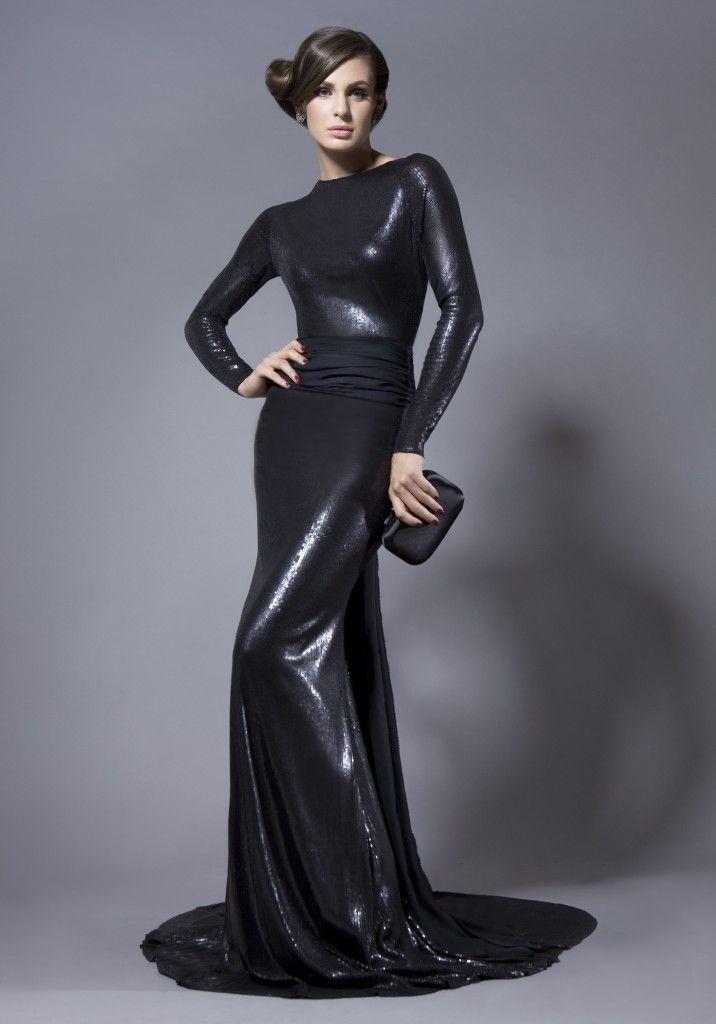 Rochie de seara neagra cu paiete si spatele gol DECADENT ME by BIEN SAVVY